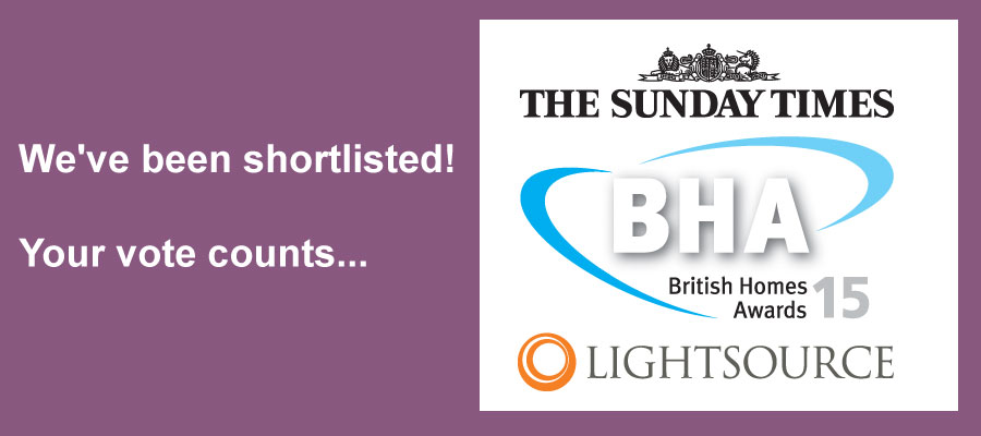 We've been shortlisted! Your vote counts...