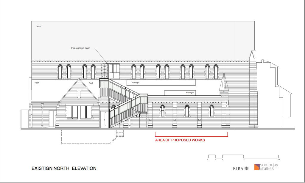 Kew EXIS North elevation